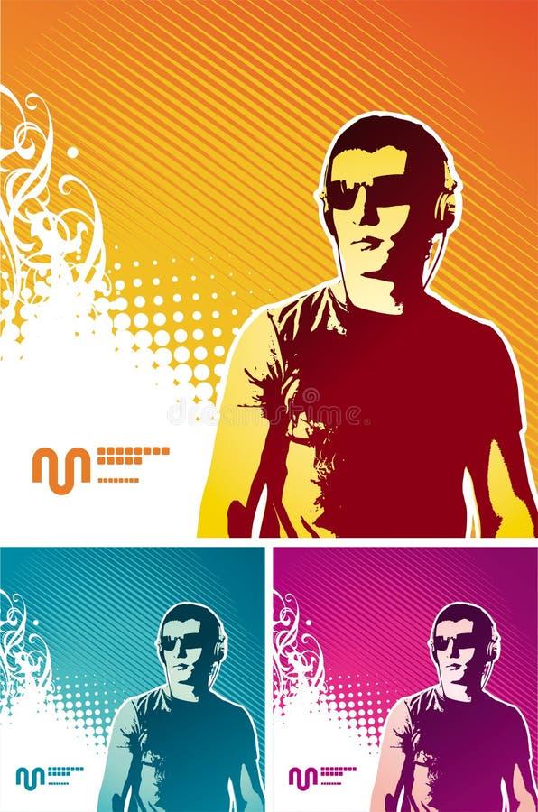 De mens van de muziek vector illustratie