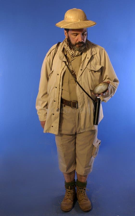 De mens van de safari royalty-vrije stock afbeelding
