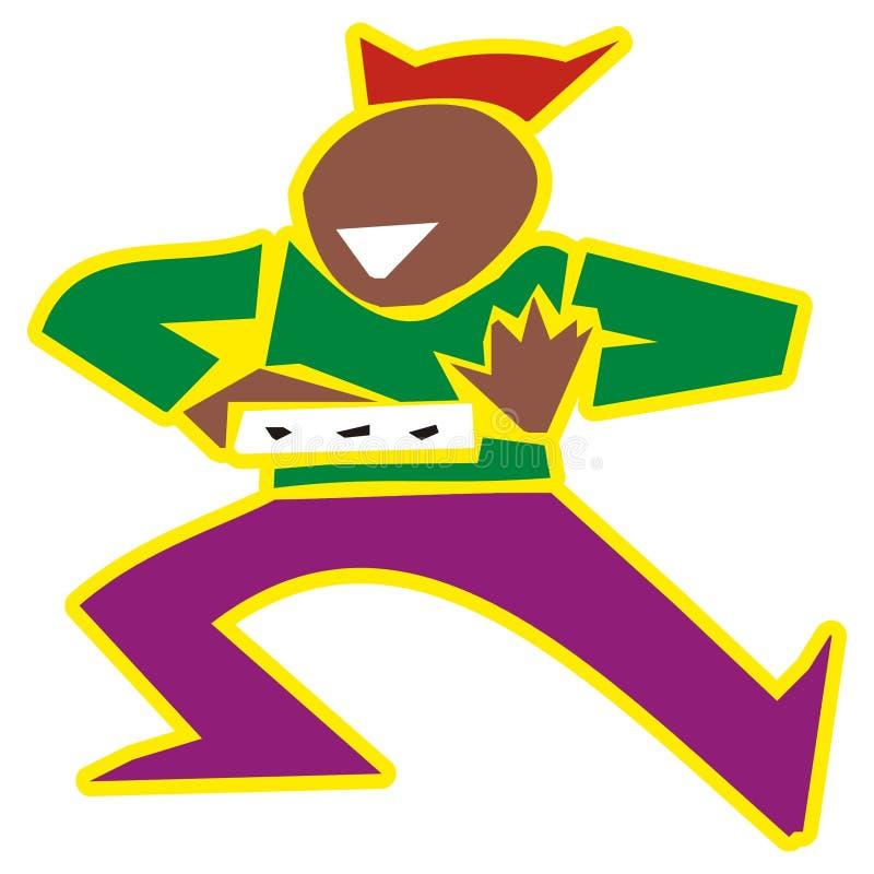 De mens van de samba stock illustratie