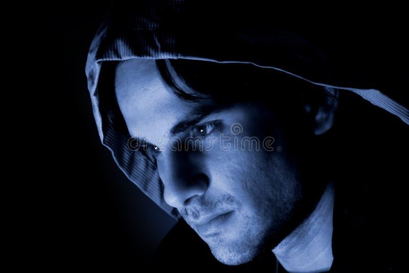 De mens van de schaduw stock afbeelding
