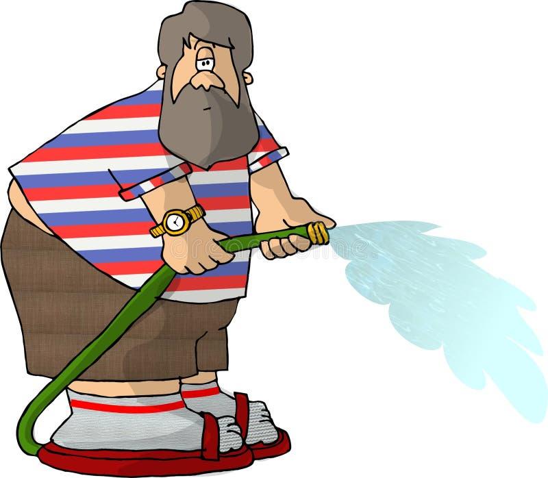 Download De mens van de slang stock illustratie. Afbeelding bestaande uit pret - 43583