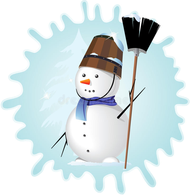 De mens van de sneeuw stock illustratie