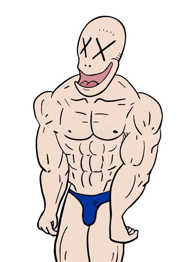 De mens van de spier vector illustratie