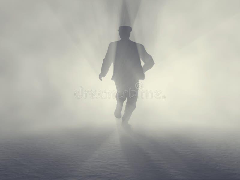 De mens van de spion royalty-vrije illustratie