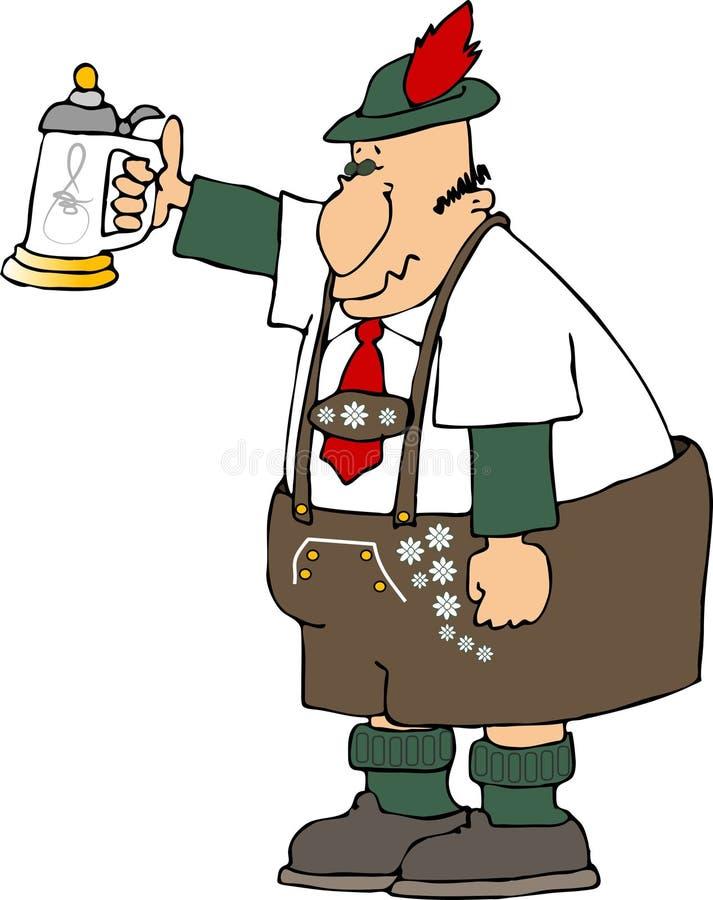 De mens van de stenen bierkroes royalty-vrije illustratie