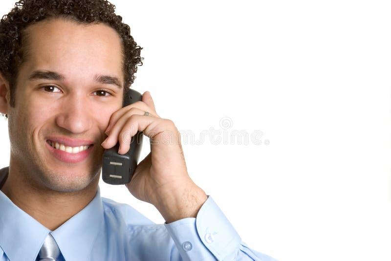 De Mens van de telefoon royalty-vrije stock afbeelding