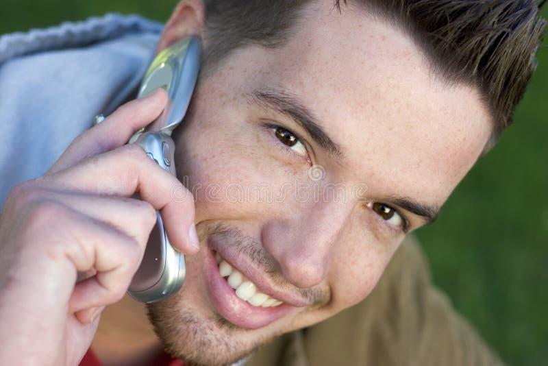 De Mens van de telefoon stock afbeeldingen