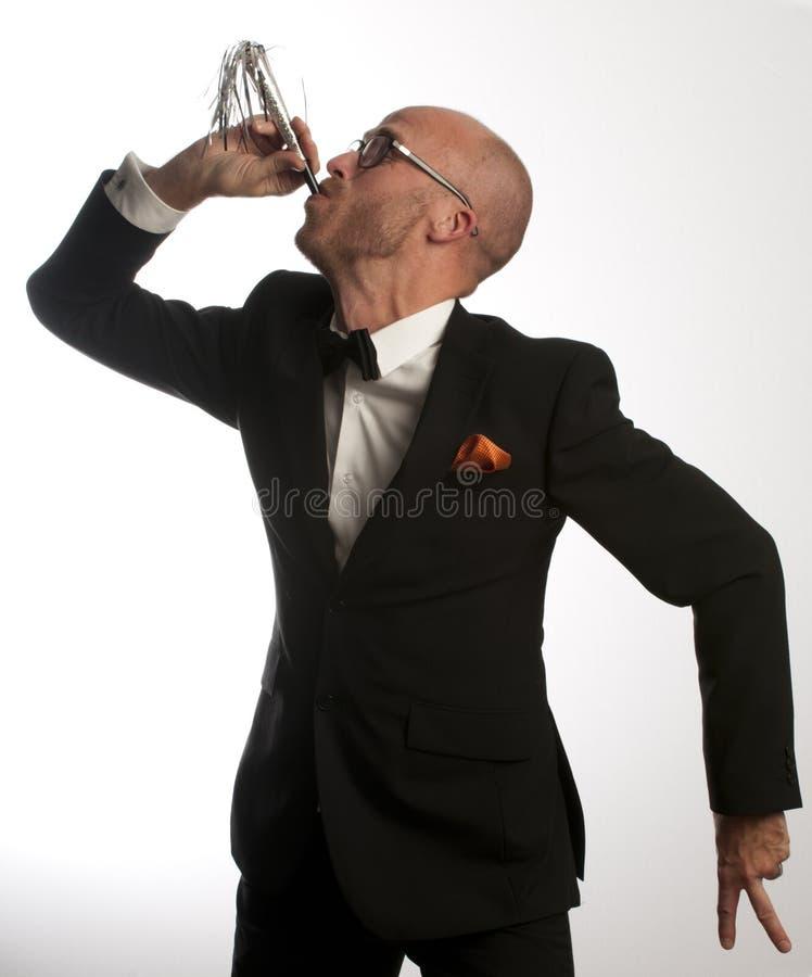 De Mens Van De Trompet Stock Foto