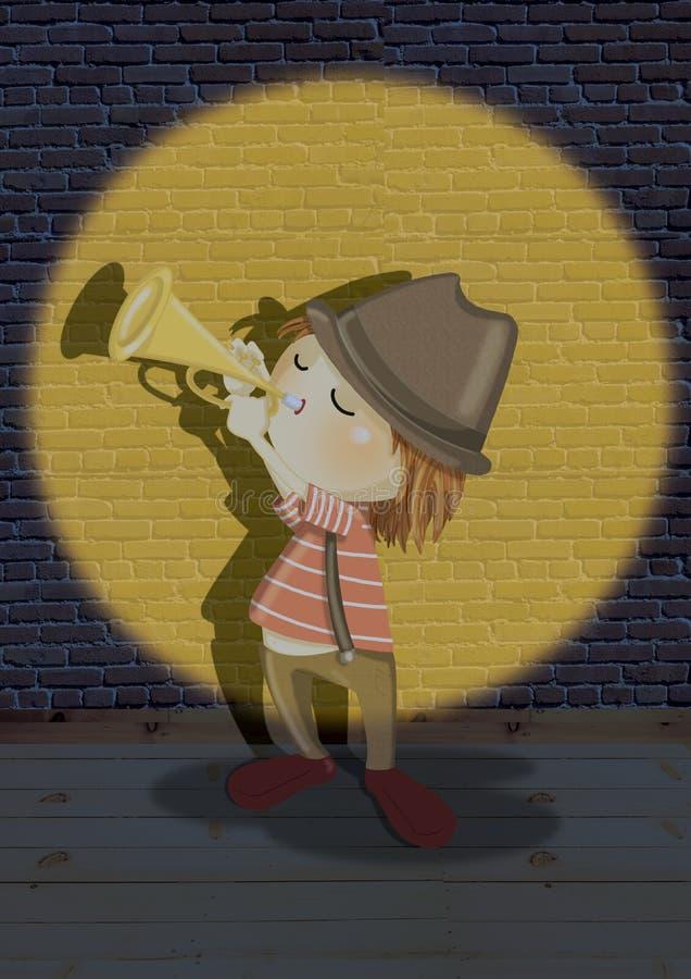 De mens van de trompet
