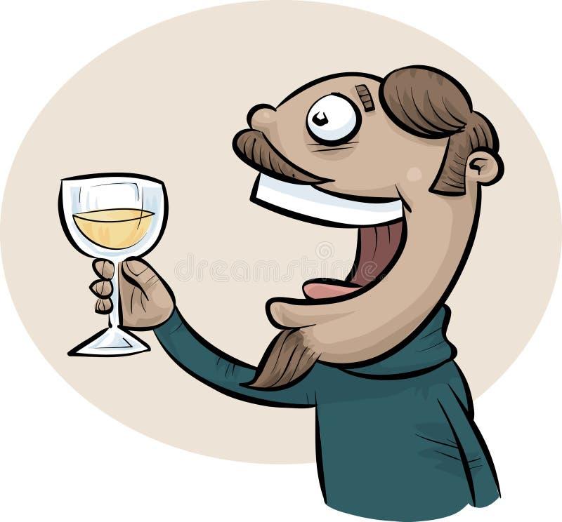 De Mens van de wijntoost vector illustratie