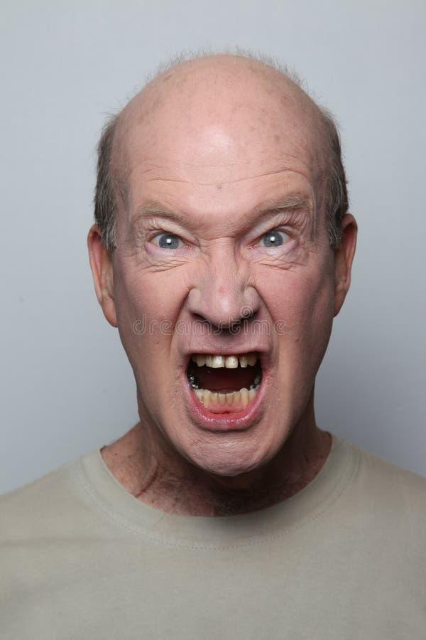 De mens van de woede stock fotografie