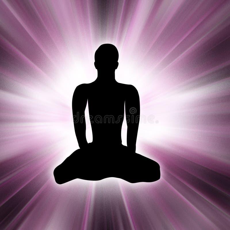 De Mens van de yoga #1 royalty-vrije illustratie