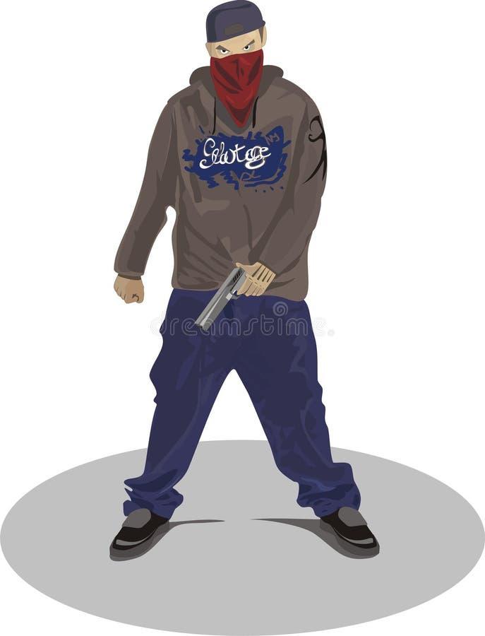 De mens van Gangsta royalty-vrije illustratie
