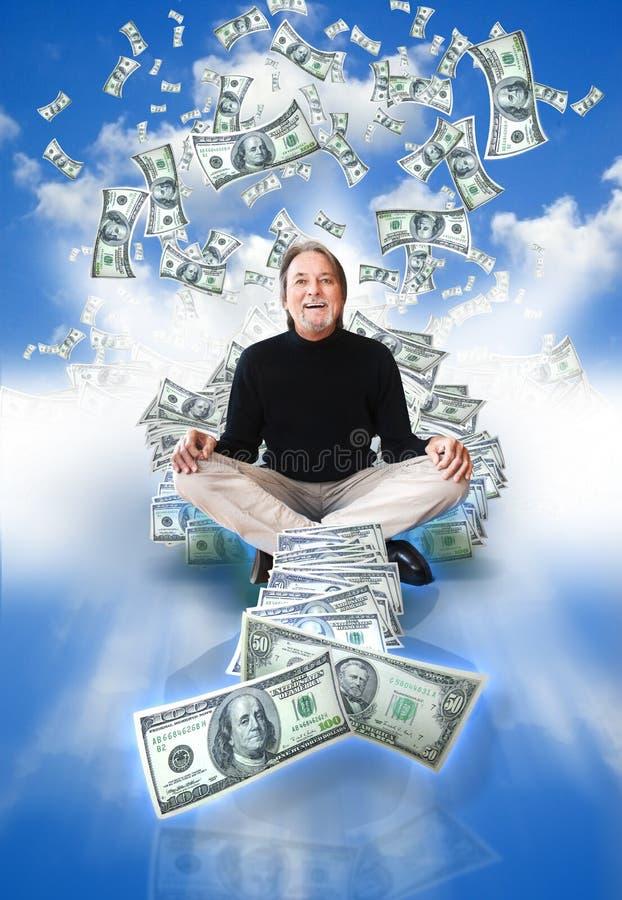 De mens van het geld royalty-vrije stock afbeeldingen