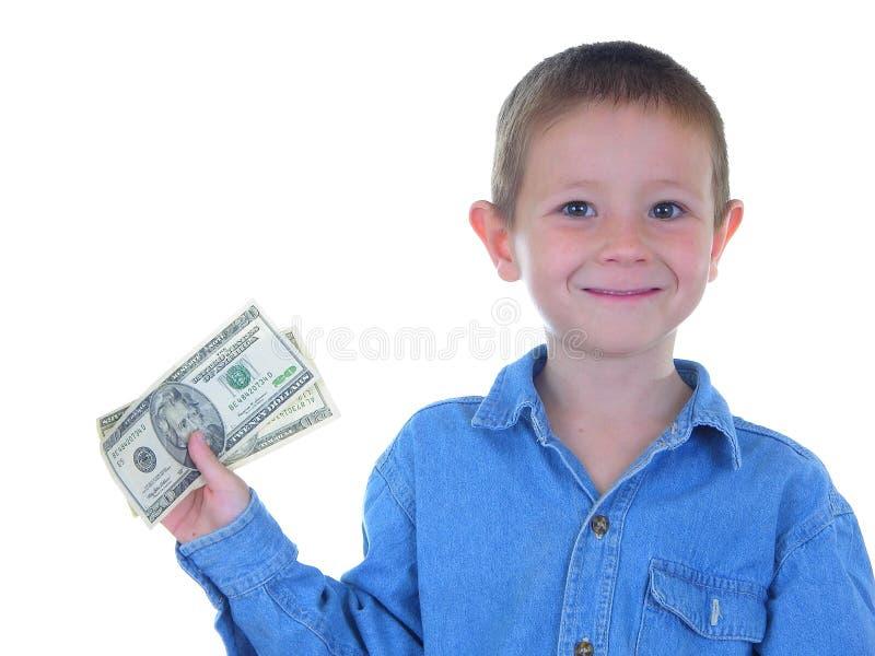 De Mens van het geld stock afbeelding