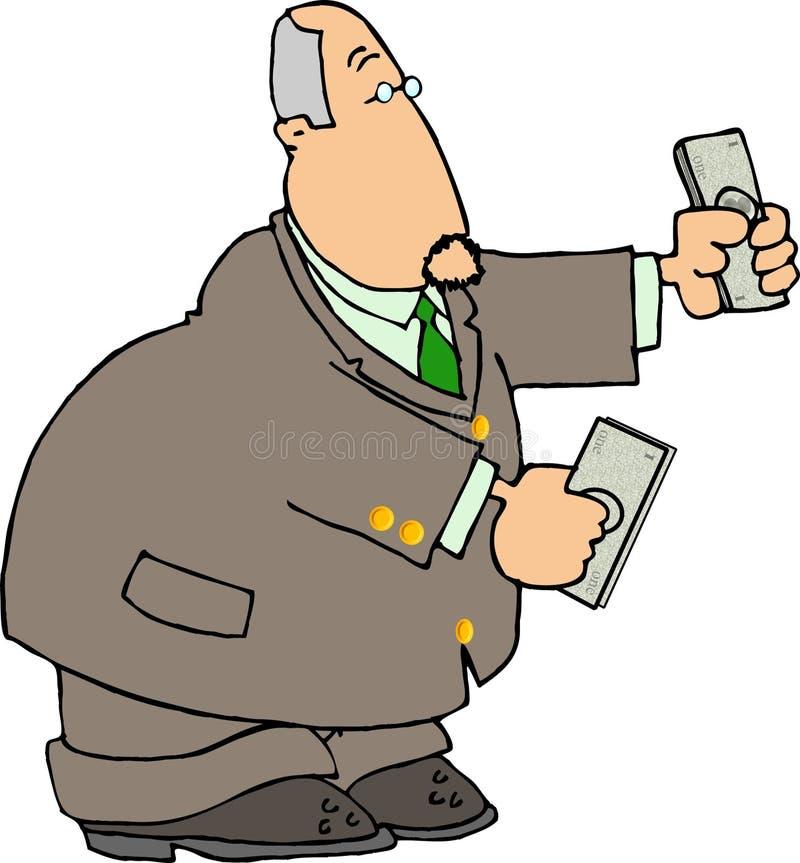 De mens van het geld stock illustratie