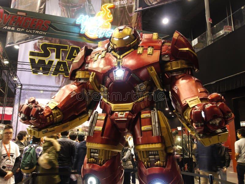De Mens van het Hulkbusterijzer in de Wrekers: Leeftijd van Ultron stock foto
