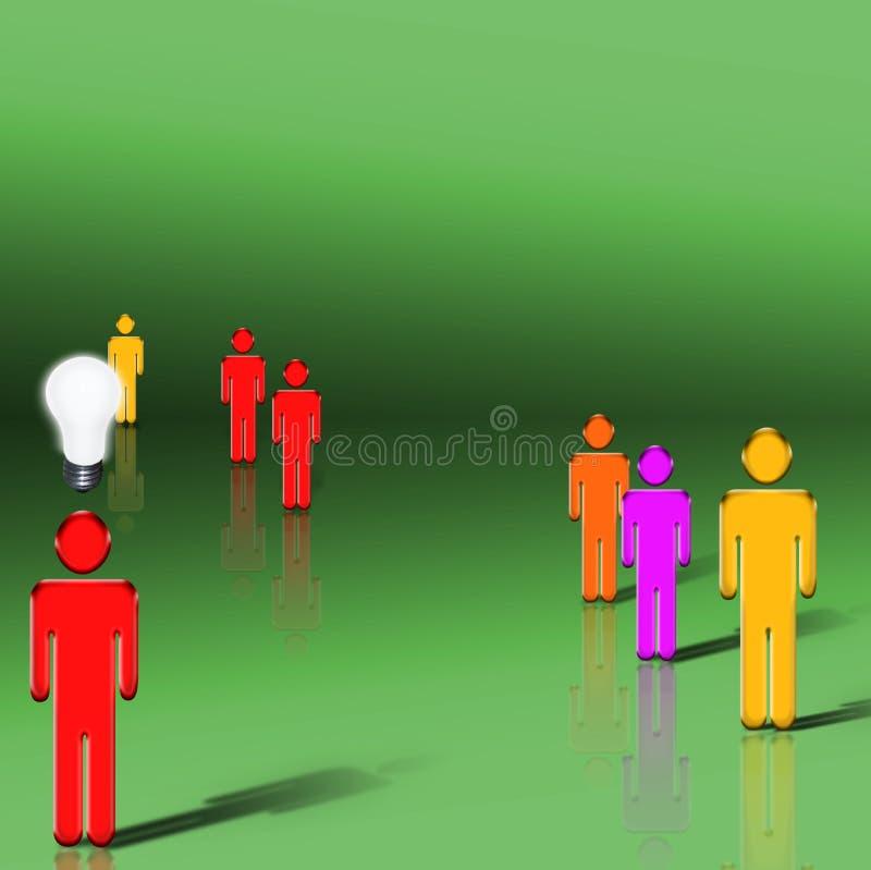 De mens van het idee vector illustratie