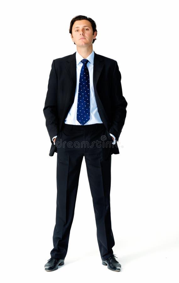 De mens van het kostuum stock afbeelding