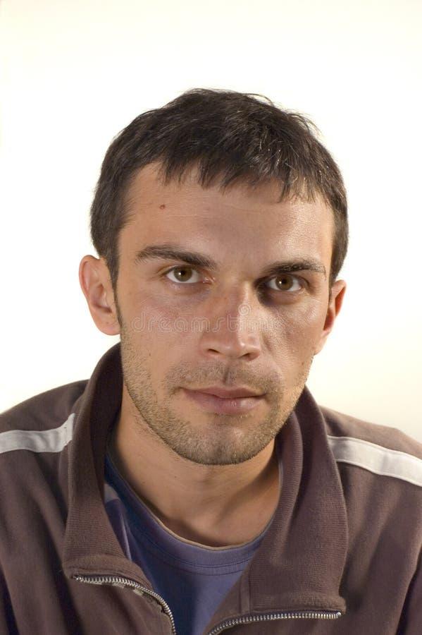 De mens van het portret stock foto