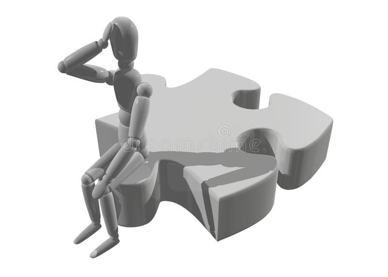De mens van het raadsel vector illustratie