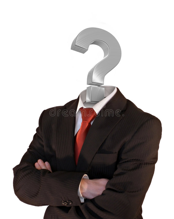 De mens van het vraagteken stock illustratie