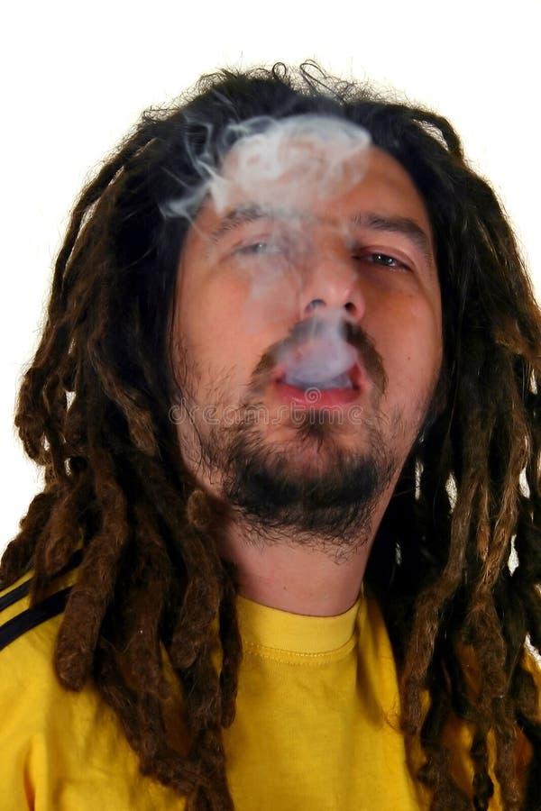 De mens van Rastafarian stock foto's