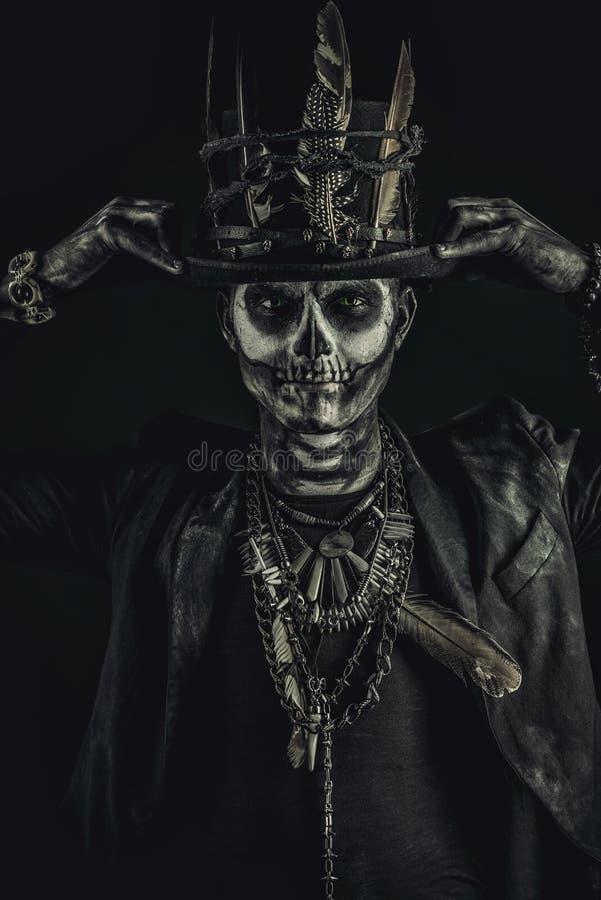De mens van de schedelmake-up royalty-vrije stock foto