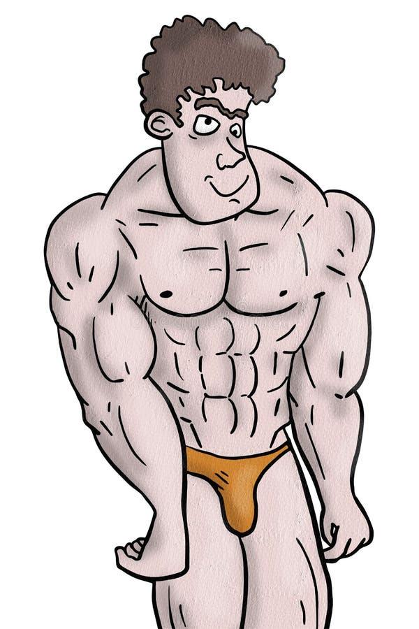 De mens van de spier stock illustratie