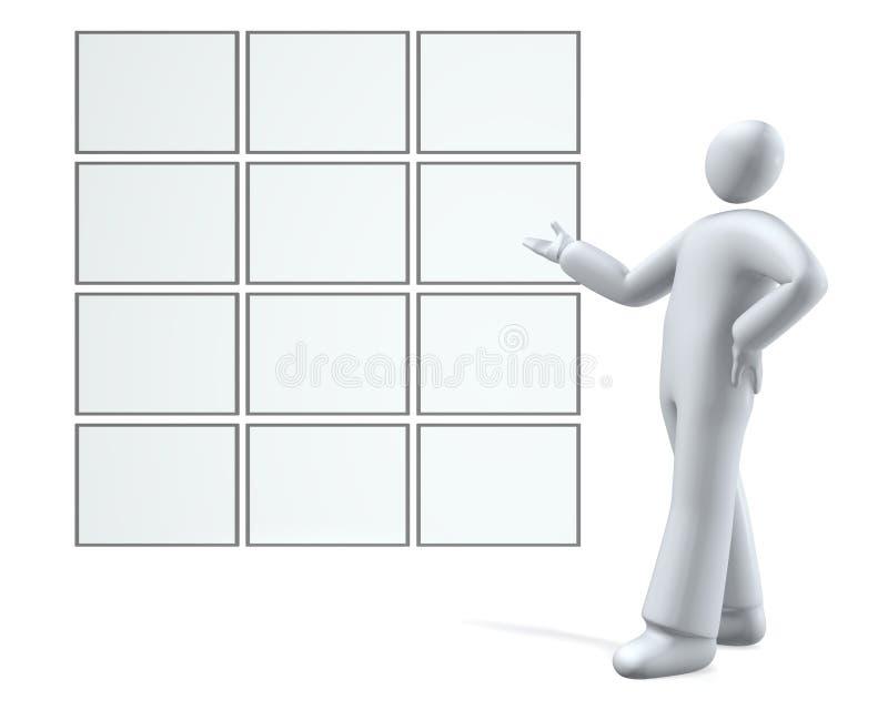 De menselijke en lege schermen/raad stock illustratie