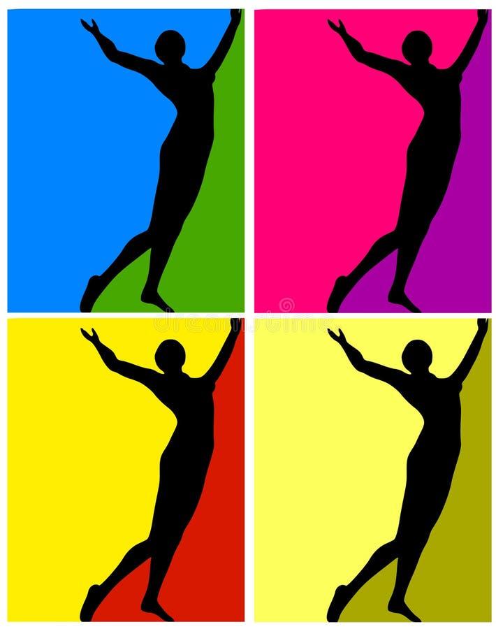 De menselijke Kleurrijke Achtergronden van het Cijfer vector illustratie