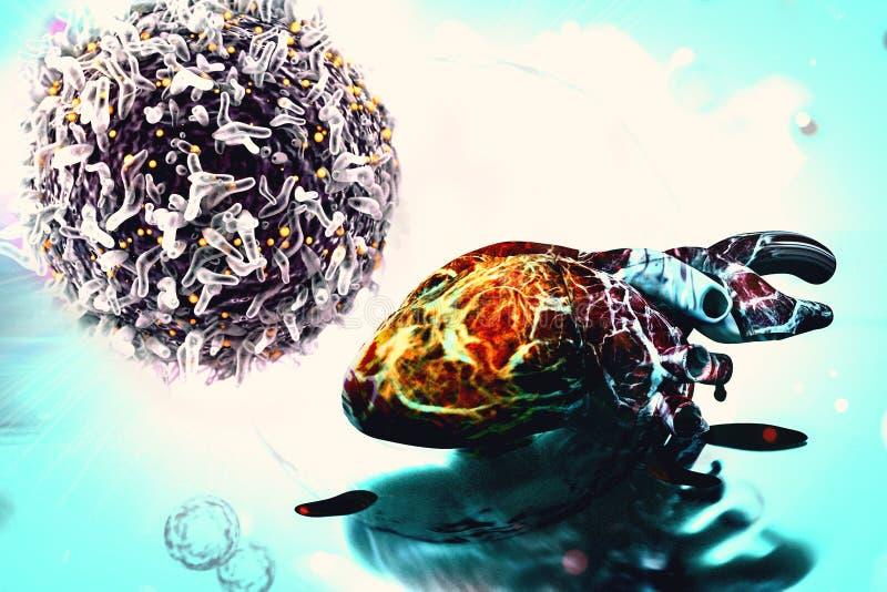 De menselijke van het het conceptenhart van het hartonderzoek cellen van de gezondheidskanker stock illustratie