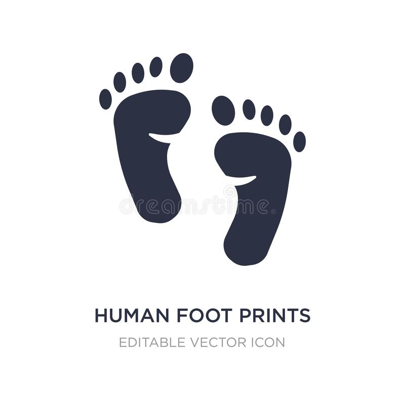 de menselijke voet drukt pictogram op witte achtergrond Eenvoudige elementenillustratie van Vormenconcept royalty-vrije illustratie