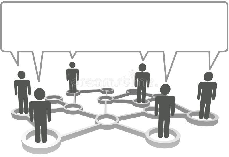 De mensen delen bedrijfsnetwerktoespraak mee bubb stock illustratie
