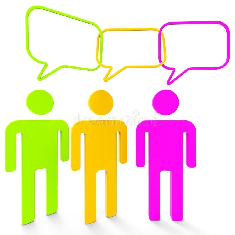 De mensen die wijzen op Standpunt en Veronderstelling spreken vector illustratie