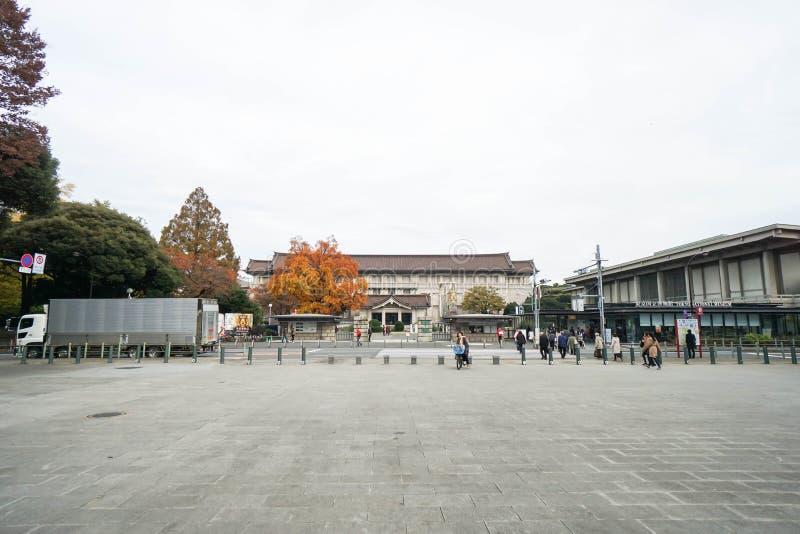 De mensen genieten van reizend bij het Nationale Museum van Tokyo stock foto