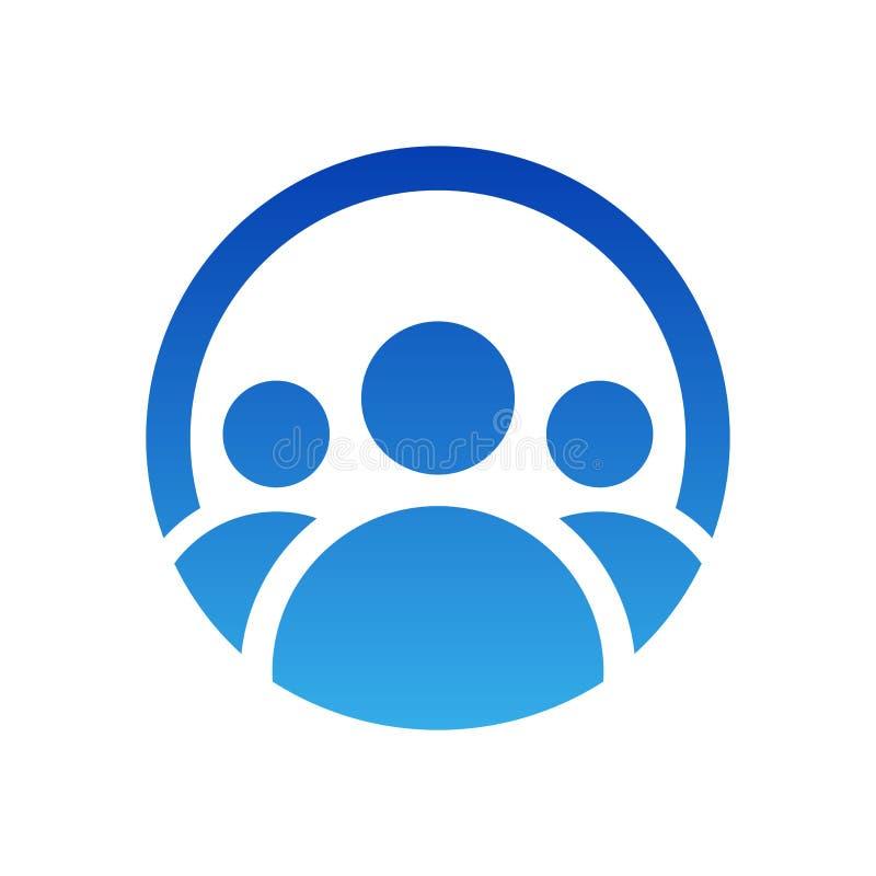 De mensen groeperen embleemontwerp Vectorpictogramillustratie Geïsoleerde het symbool van het teamwerk royalty-vrije illustratie