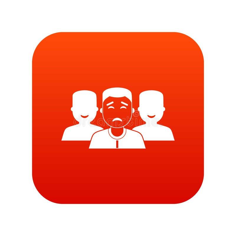 Download De Mensen Groeperen Pictogram Digitaal Rood Vector Illustratie - Illustratie bestaande uit organisatie, bureau: 107707756