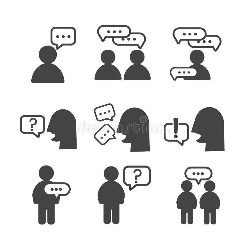 De mensen groeperen pictogrammen op witte achtergrond worden ge?soleerd die royalty-vrije illustratie
