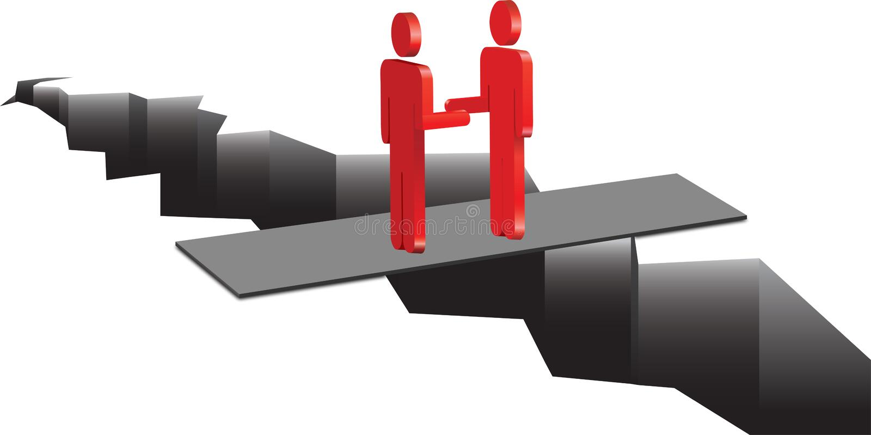 De mensen maken een overeenkomst vector illustratie