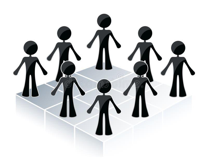 De mensen omcirkelen stock illustratie