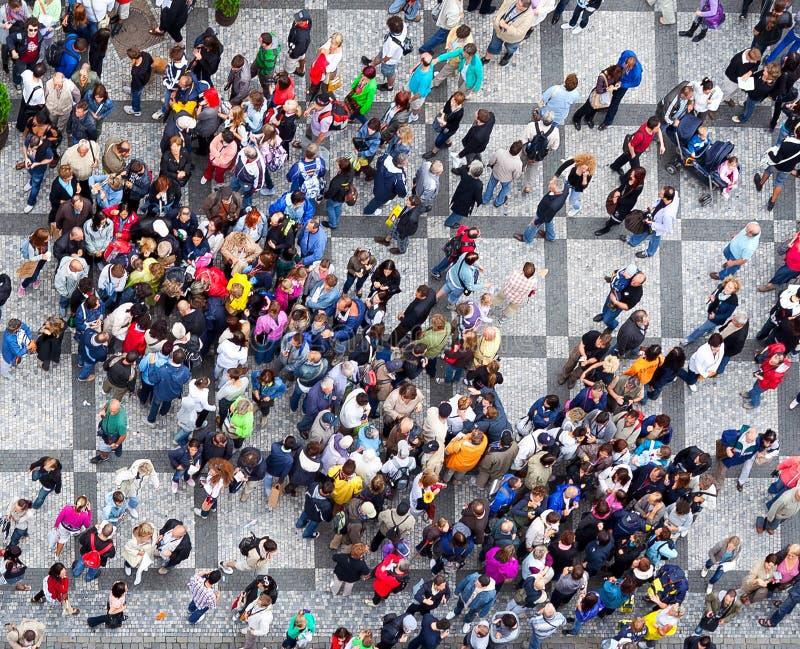 De mensen overbevolken textuur stock foto