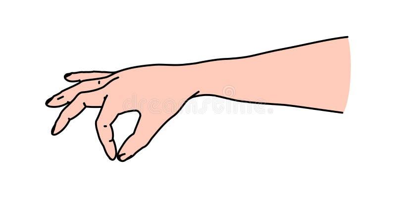 De mensen overhandigen het knijpen van of het bestrooien van zout of kruiden royalty-vrije illustratie
