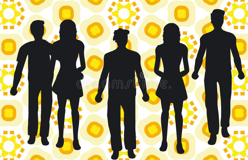 De mensen silhouetteren vector illustratie