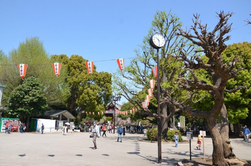 De mensen in Ueno parkeren stock fotografie