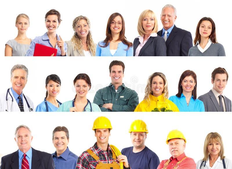De mensen van arbeiders stock afbeelding