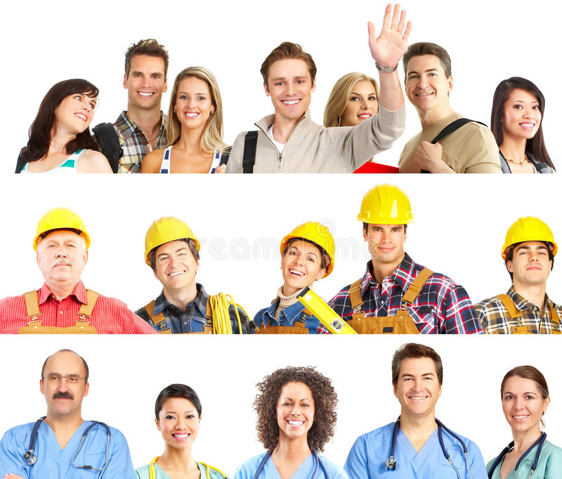 De mensen van arbeiders stock foto