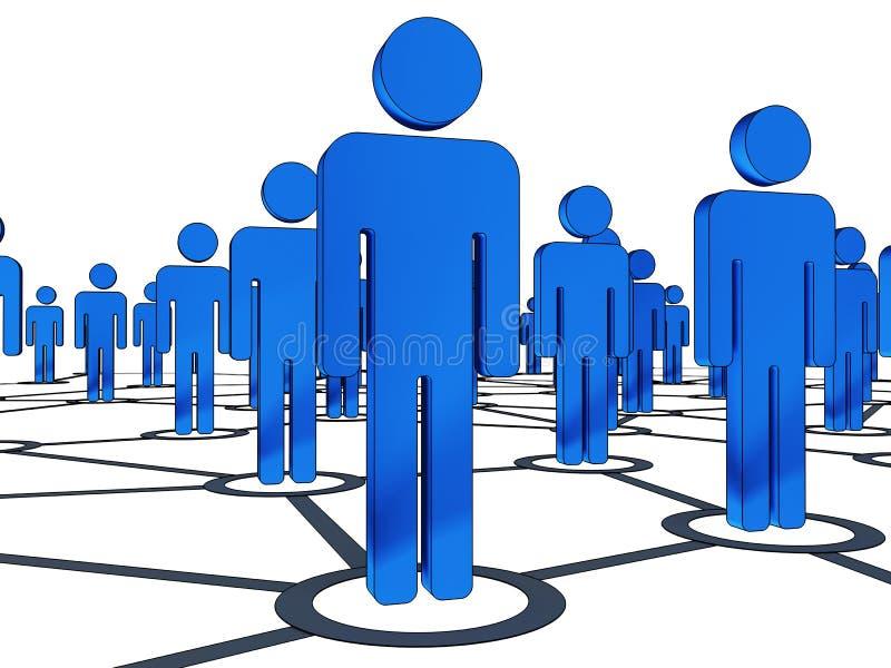 De mensen van de aansluting vector illustratie