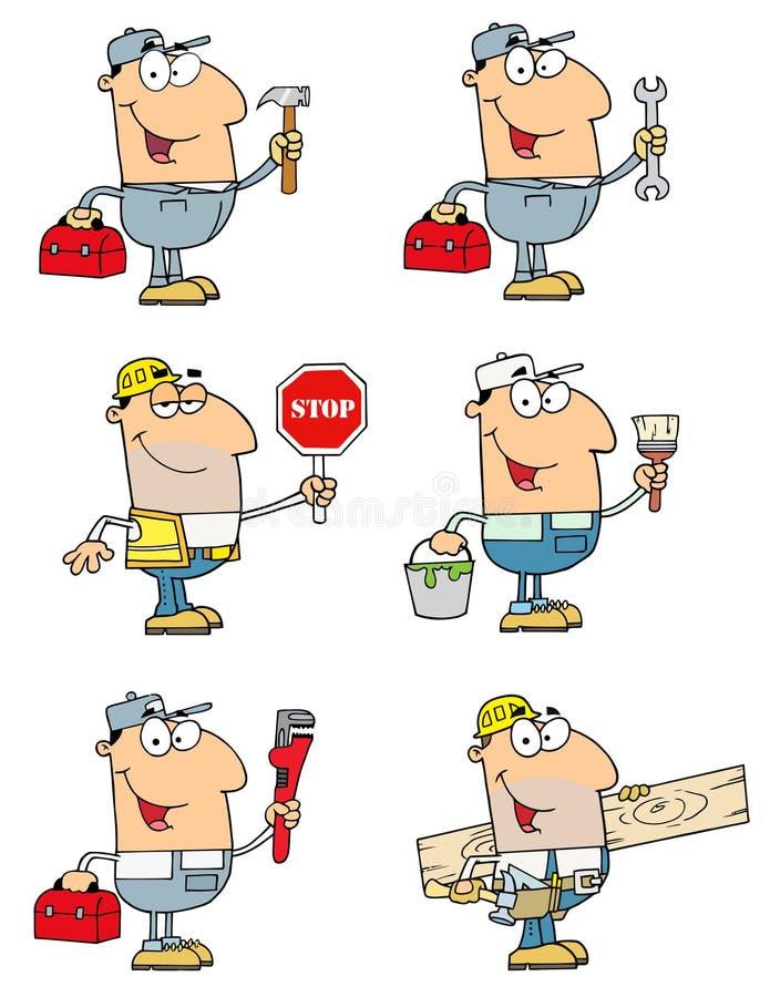 De mensen van de bouw en van de reparatie
