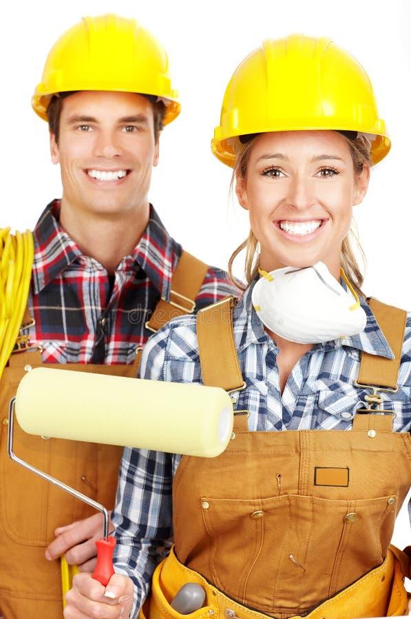 De mensen van de bouwer stock fotografie